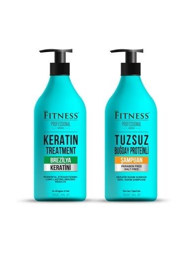 Fitness Professional Fitness Professional Saç Düzleştirici Brazilya Keratin Bakımı Ve Buğday Proteinli Tuzsuz Şampuan 1000 Ml Renksiz